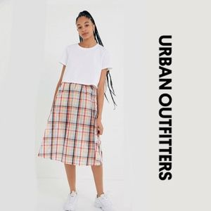 UO Jessie Plaid Midi Skirt